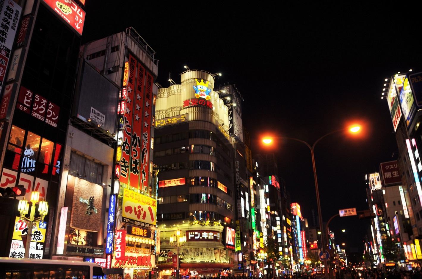 新宿区_夜の歌舞伎町