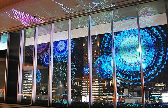 渋谷駅_ヒカリエ_スカイロビー夜景