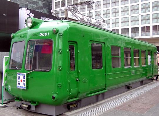 渋谷駅_東急レトロな電車