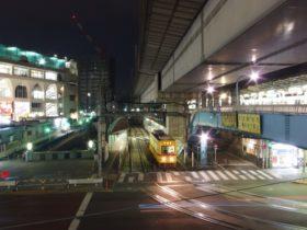 王子駅_風景_駅前周辺の夜景