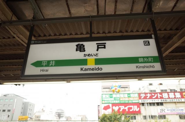 亀戸駅_駅看板