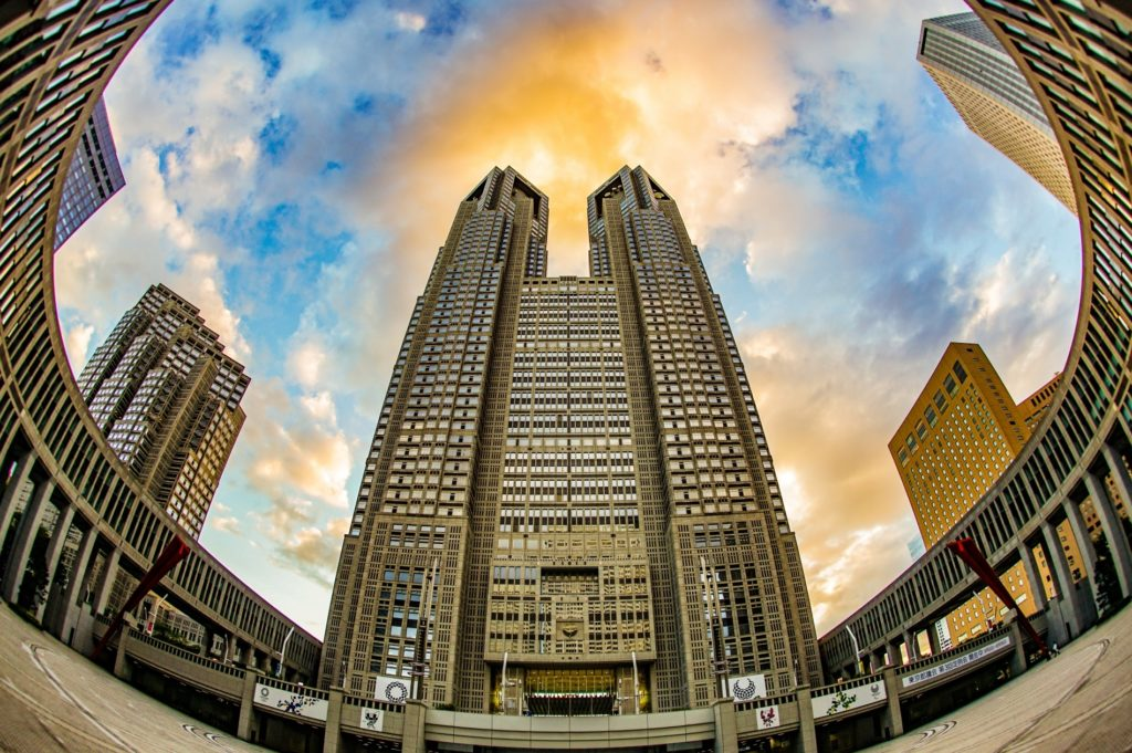 都庁前駅_東京都庁を360度カメラで撮影