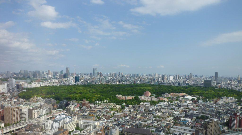 新宿御苑前駅_新宿御苑の上空風景
