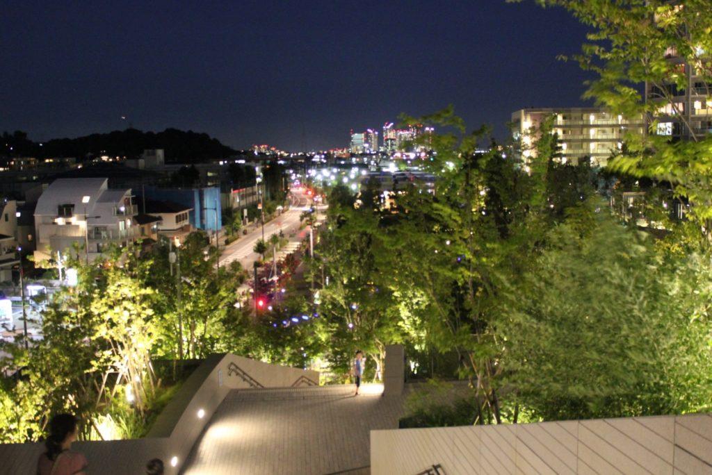 二子玉川駅_ライズの夜景